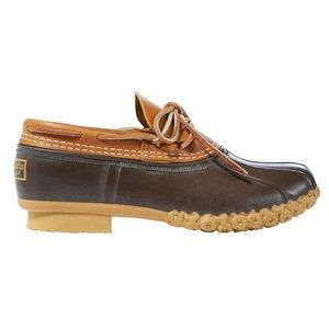 L. L. Bean Women's Bean Boot Rubber Moc Tan/Brown
